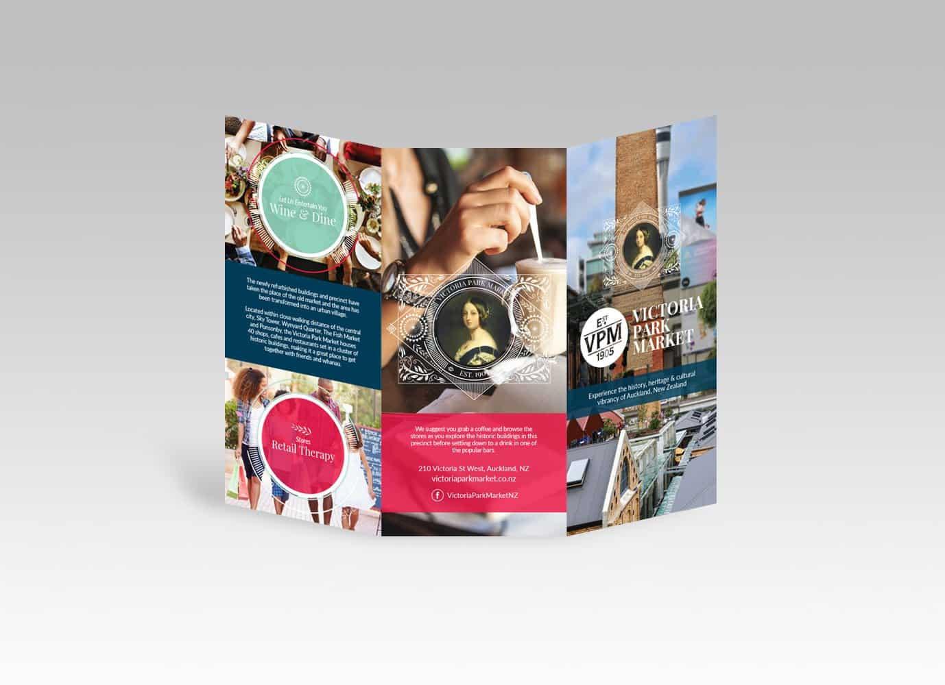victoria park market brochure design