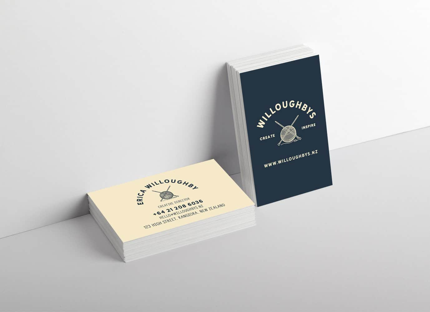 willoughbys business card