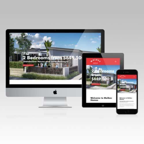 Malbec Homes Website Designer